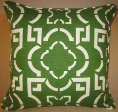 pillow green medallion - Google Search