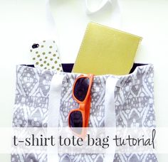 How to turn old t-shirts into an awesome tote bag - this would be perfect for shopping or taking to the beach!