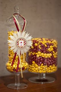 Incorporate garnet and gold into everything! Especially the sweet stuff :)