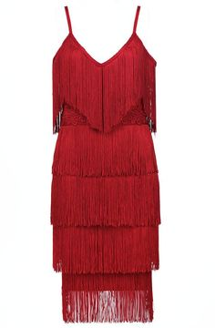 Tassel Dress Red - Luxe Dresses and Luxe Party Dresses Party Dresses For Women, Summer Dresses, Casual Cocktail Dress, Stitching Dresses, Different Dresses, Fringe Dress, Sexy Party Dress, Stunning Dresses, Ideias Fashion