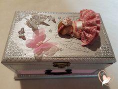 Boîte à musique bébé fille rose et grise- au cœur des arts - Enfants - Au coeur des Arts