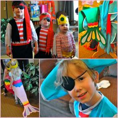 "Pirate & Mermaids Party:  Love the Mermaid ""tails"" and the treasure hunt!!"