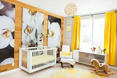 Spot On Square's Alto Crib and Credenza - shown in bamboo option - featured in Kendra Wilkinson and Hank Baskett's baby girl's nursery. Alto Collection available fall 2014 at www.spotonsquare.com