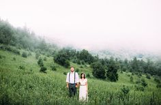 Foggy, afternoon wedding in the mountains of North Carolina