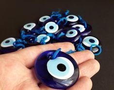 50 pcs Greek Blue Evil Eye Glass Pendant Round Bead Artisan Handmade Protective Symbol Talisman Jewelry Design Home Decor mm Wedding Favors For Guests, Unique Wedding Favors, Unique Weddings, Greek Blue, Greek Gifts, Greek Evil Eye, Greek Wedding, Evil Eye Charm, Evil Eye Bracelet