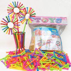256 sztuk dla dzieci plastikowe kije inteligencja edukacyjne building blocks zabawki handmade diy lepin montessori early learning prezenty