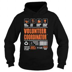 Volunteer Coordinator T Shirts, Hoodies, Sweatshirts. CHECK PRICE ==► https://www.sunfrog.com/LifeStyle/Volunteer-Coordinator-95255394-Black-Hoodie.html?41382