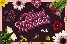 Flower Market Vol.1 by PixelBuddha on @creativemarket