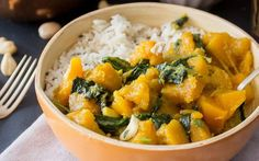 Pumpkin and Spinach Curry [Vegan, Gluten-Free] | One Green Planet
