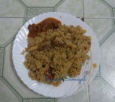 Seeraga samba mutton Biriyani and mutton gravy...