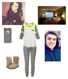 """""""Why are you doing this! read d/"""" by kylie-shawn-forever ❤ liked on Polyvore featuring UGG Australia"""