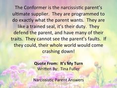 From Tina Fuller creator of the Facebook survivor site Narcissistic Parent Answers.