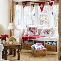 A cosy country window seat perfect for curling up with a good book and a hot mug of tea...