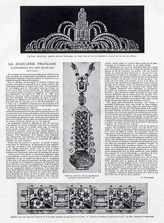 Mauboussin (Jewels) 1925 Tiara Bracelet Art Deco Archive Doc Clipping