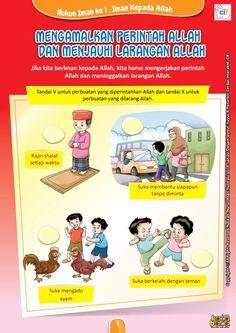 Baca Online Buku Brain Games Belajar Rukun Iman mengenal 6 Rukun Iman dalam bentuk games beragam aktivitas seru bergambar untuk anak TK, PAUD, dan SD. School Worksheets, Kindergarten Worksheets, Baca Online, Wallpaper Ramadhan, Islam For Kids, Islamic Studies, Learn Islam, Brain Games, Special Education