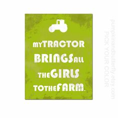 Construction Print, Construction Theme Decor, Kids Furniture and Decor, Boys Room, Tractor, Chicks Dig Me, Construction Theme, Nursery Decor...