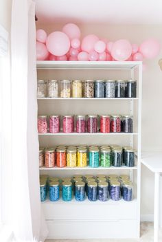 One Stylish Party Studio Tour - One Stylish Party's balloon wall! - One Stylish Party Studio Tour – One Stylish Party's balloon wall! I am obsessed with these cle -
