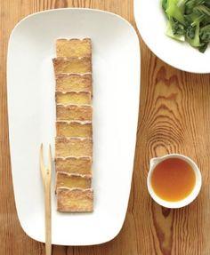 Crispy Tofu Slices with Orange Dipping Sauce #vegan