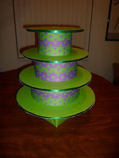 Barney cupcake stand