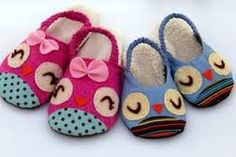 Owl Sewing Pattern Slippers for children PDF by LivingDIYStyle Make Your Own Shoes, How To Make Shoes, Crochet For Kids, Sewing For Kids, Baby Sewing, Owl Shoes, Baby Shoes, Girls Shoes, Owl Sewing Patterns