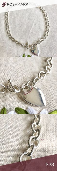 ✨WOW✨Silver Heart Chain Link Bracelet & Necklace Beautiful heart chain link bracelet and necklace set! Bracelet used once and necklace is new. Looks fantastic! Excellent piece for an evening out. Jewelry Necklaces