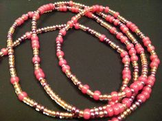 PINKX African Waist Beads by NeaubianEsssence on Etsy, $12.00