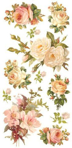Pastel rose stickers for Valentine card making