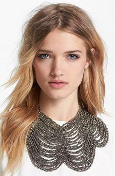 Sparkly chandelier collar necklace - dress up a t-shirt or LBD