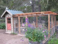Chicken Coop - A Chicken Coop that Enhances the Garden. If I had backyard chickens this so would be their coop ♥ LOVE ♥ Building a chicken coop does not have to be tricky nor does it have to set you back a ton of scratch.