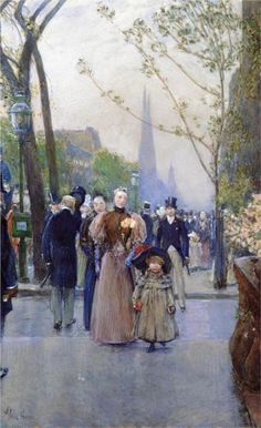 Childe Hassam - Fifth Avenue (aka Sunday on Fifth Avenue), 1890-1891
