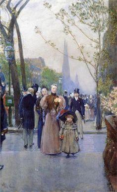 Childe Hassam - Fifth Avenue (aka Sunday on Fifth Avenue), 1890-1891