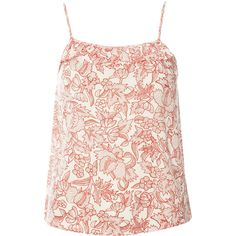 Dorothy Perkins Coral Dotty Floral Cami top ($8) ❤ liked on Polyvore featuring tops, blouses, coral, pink cami, camisole tank tops, polka dot tank, floral tank top and camisole tops