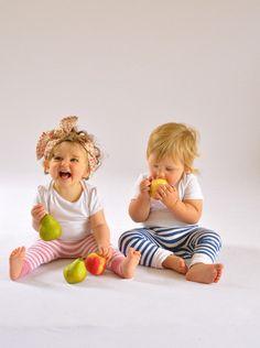 Babies Bamboo Skinnies, Blue stripe