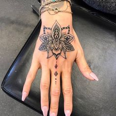Meaningful Hand Tattoo Ideas For Girls - Best Tattoos For Women: Cute, Unique, a. - Meaningful Hand Tattoo Ideas For Girls - Best Tattoos For Women: Cute, Unique, and Meaningful Tattoo Ideas For Girls - Get Cool Female Tattoos with Pretty Designs - Mandala Hand Tattoos, Cute Hand Tattoos, Small Hand Tattoos, Hand Tats, Hand Tattoos For Women, Finger Tattoos, Unique Tattoos, Small Tattoo, Hand Tattoos Girl