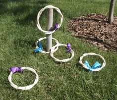 This cute little ring toss game could be done inside or outside.