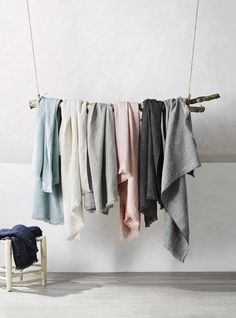 New Vintage Linen throws by AURA Home, SS16-17 collection