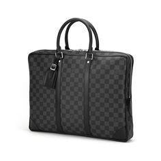 Louis Vuitton(ルイヴィトン) ダミエ・グラフィット ポルト ドキュマン・ヴォワヤージュ N41125 ブリーフケース メンズ ブラック