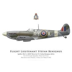 Spitfire Mk Vc, F/L Stefan Benignus, No 313 (Czech) Squadron, Royal Air Force, 1943 - Bravo Bravo Aviation