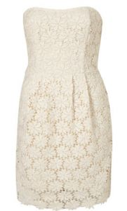 Broiderie Anglaise strapless dress by Topshop