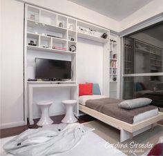Mueble a medida. Cama abierta. www.carolinastroeder.com.ar  Twitter: @CaroStroeder FB: www.facebook.com/VidrierasBsAs