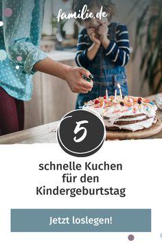 Die Geburtstagsparty steht vor der Tür und von einem Kuchen fehlt bislang jede Spur? Kein Problem: Hier kommen fünf schnelle Kuchen für den Kindergeburtstag. #kindergeburtstag #kuchen #backen #kuchenbacken #rezept #feiern #geburtstagsparty #party #familienleben #lebenmitkindern #lecker #selbermachen #rezept #diy #yummy