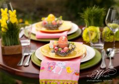 Beautiful Easter table scape by Dinner4Two.  www.theWrightlight.com