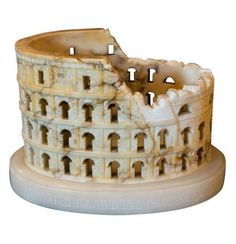 Grand Tour Souvenir of the Coliseum, in alabaster...
