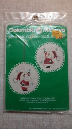 Unopened Columbia Minerva Beaded Cross Stitch DIY by RoamingThread