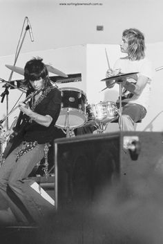 1973 The Rolling Stones – Perth concert images by Ric Chan – Surfing Down South The Rolling Stones, Perth, Rock N Roll, Gretsch Drums, Rollin Stones, Thing 1, King Richard, British Rock, Rock Concert