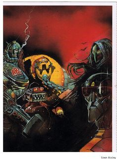 ABC Warriors by Simon Bisley  Auction your comics on http://www.comicbazaar.co.uk