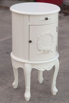 *FACTORY SECOND*  FRENCH PROVINCIAL STYLE BED SIDE TABLE  STORAGE CABINET DRAWER