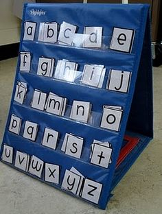 Idea for abc/word work station
