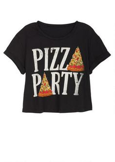 Pizza Party Tee - Graphic Tees - Tops - dELiA*s