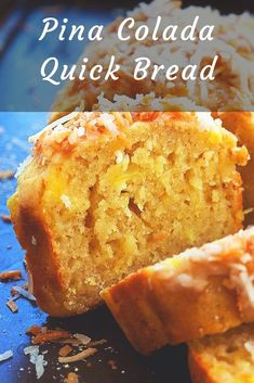 Pina Colada Quick Bread - Quick bread recipe with crushed pineapple and toasted coconut that taste like a Pina Colada cocktail. This Pina Colada bread takes you to the tropics without leaving your kitchen. Pina Colada Bread Recipe, Hawaiian Banana Bread Recipe, Pineapple Coconut Bread, Pina Colada Cake, Quick Bread Recipes, Banana Bread Recipes, Pastry Recipes, Baking Recipes, Baking Ideas